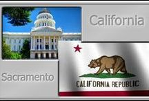 ! 26 CA - California / California is a state located on the West Coast of the United States. It is the most populous U.S. state, home to one out of eight people who live in the U.S., with a total of 38 million people, and it is the third largest state by area.  / by William E Hollon