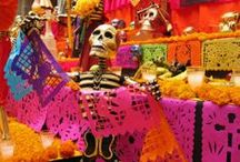 Day of the Dead - Dia de los muertos / La Fuente offers one of the largest selections of Day of the Dead around including Figures Under $20; Diego Huerta Figures; Juan Soteno Figures; Paper Mache Figures; Jose Mendez Figures; Talavera Figures; Day of the Dead Tiles; Day of the Dead Murals; Dead Talavera Tiles; Dead Night Lights; Dead T-Shirts; Dead Arts & Crafts; Dead Tote Bags; Dead Greeting Cards.  http://www.lafuente.com/Mexican-Art/Day-of-the-Dead/ / by La Fuente Imports