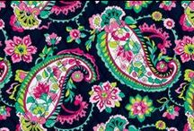 Inspiration: Petal Paisley / This print marries traditional paisleys and blooms with a more modern palette, allowing dark pink, raspberry and bright green to pop against a navy background. Shop Petal Paisley at www.verabradley.com. / by Vera Bradley