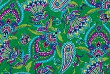 Inspiration: Emerald Paisley / Brilliant emerald green dramatized with touches of cobalt, bright magenta and lime.  Shop Emerald Paisley at verabradley.com / by Vera Bradley