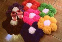Pompones / labores, alfombras, manualidades, muñecos, como hacer,  / by Totitachi