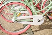 I want to ride my BICYCLE.. BICYCLE... BICYCLE / Planning on fixing up my mom's vintage turquoise 1967 Columbia Thunderbolt bike... this is all accessory ideas or Columbia-related stuff. / by Marilla @ Cupcake Rehab ✔