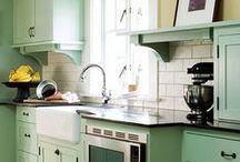 Kitchen. / …duh. A little bit retro, a little bit vintage, a little bit farmhouse, a lotta crazy. / by Marilla @ Cupcake Rehab ✔