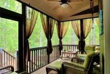 Porch. / New ideas for sprucing up the screened in porch/patio/sun room. / by Marilla @ Cupcake Rehab ✔