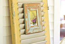 Reciclando - Ideias / recycling - ideas / pallets, caixotes, janelas e portas de demolição, escadas - Ideias / by Rose Oliveira