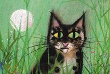 cat art for cat artists / I tried to resist because I am a dog person, but I get a lot of requests to paint cats, and I've painted a lot of them.  I need some inspiration from time to time and here it goes. / by tex norman