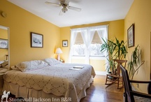"Rooms @ The Inn / Take a peek into the guest rooms at our B&B... guests say they feel ""just like home"" - and we hope you'll agree. See one you like? Click through the link to book your stay. We can't wait to meet you! / by Stonewall Jackson Inn Bed & Breakfast"