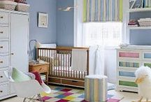 Blue & Navy Nursery Designs / When you're expecting a boy and want to create a nursery that looks perfect for a little guy, nothings works best like shakes of blue. If you want it to look even more special forgo the typical baby blue for a much more modern combination e.g of navy and white / by Personalized Baby Gifts, Baby Blankets & Nursery Bedding