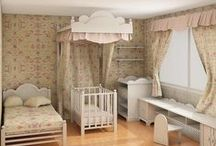 Cream & Natural Nursery Design Ideas / Give your child's nursery a chic yet calm vibe by choosing a sleek cream color scheme. / by Personalized Baby Gifts, Baby Blankets & Nursery Bedding