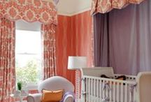 Orange Nursery Design Ideas / Orange is a very comfortable color. It promotes a welcoming feeling, warmth and inspires interpersonal conversation / by Personalized Baby Gifts, Baby Blankets & Nursery Bedding