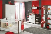 Red Nursery Design Ideas / A splash of red is a great accent and can bring a lot of excitement to a baby room. / by Personalized Baby Gifts, Baby Blankets & Nursery Bedding