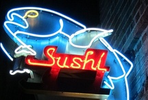Sushi ♥ / I love sushi.  I believe sushi is food art at its finest.  It is as beautiful as it is delicious.   / by Diana Lee
