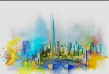 Art: Pencil Cities (and paints, sometimes pens too) / by Rick Waterworth