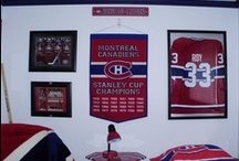 Montreal Canadiens Room (Habs Theme) / Montreal Canadiens Theme Bedroom / by Bailey Puggins The Pug