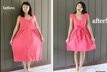Upcycling, Repurposing, Refashion, Resew Clothing, Sewing Patterns / Best hobby ever.  Never throw clothes away if you love the material and colors, refashion them! / by Sara Burt