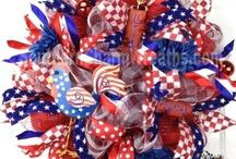 Patriotic Wreaths / designed by www.southerncharmwreaths.com / by Southern Charm Wreaths