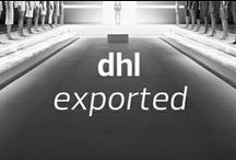 DHL Exported / DHL Exported, created by IMG Fashion in collaboration with DHL, is an unprecedented program that combines DHL's unsurpassed logistics capabilities with the global marketing platform of the most impactful fashion week events.  / by Mercedes-Benz Fashion Week