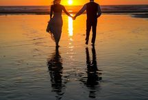 Sand, sunset, and my soulmate❤️ / Beach wedding ideas❤️ / by Jen Jacobs