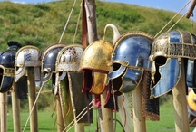 Viking Armor / Viking Armor is thought to have been scarce. Only one helmet and one mail shirt have been found by archaeologists.  Helmets were likely the most common piece of equipment.  We know mail shirts were in use, but there is no extant evidence for the padded gambeson Medieval warriors considered necessary.  Leather armor was probably common, but none has survived for us. / by Styy Gens