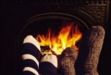 Keeping Cozy By The Fire / #cozy #clothes #home #accessories #fireplace / by Maria Proietti
