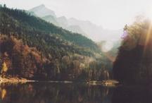 + Places To Go / lights.landscape.mountains.sun.buildings / by Emily Peek