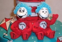 Thing 1 & Thing 2 baby shower for twins by Lala Kares Theme Parties in Portland, OR / by Karen Cruse