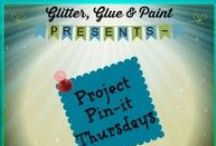 """Project Pin-It Party / Featured projects from the """"Project Pin-It"""" Linky party. This is where all the great projects that get linked up to Thursday's Project Pin-it Link party. Join the party and get pinned. Feel free to Pin away!! / by Glitter Glue and Paint - DIY Blogger"""