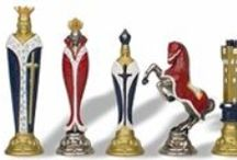Chess / board & figurines 'Chess is not just a game of intellectuals, it is also an artistic expression of creative artist throughout time.' / by sheila mckenney