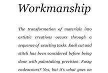 Workmanship / Saga Furs lookbook A/W 2014-15 / by Saga Furs
