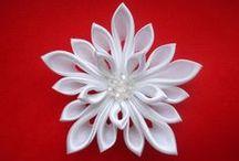 Kanzashi - Výroba květin / by Petra Medunová