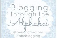 {blogging through the alphabet) / by Marcy (Ben and Me)