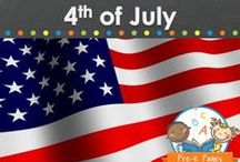 4TH OF JULY / Holiday ideas for Independence Day 4th of July USA. Fun learning ideas, art, and craft projects for your preschool, pre-k, or kindergarten classroom. Visit me at www.pre-kpages.com for more inspiration for early education! / by Vanessa @pre-kpages.com
