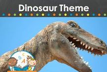 dinosaur theme / Dinosaur theme learning activities, crafts, ideas, printables and resources for young children in your preschool, pre-k, or kindergarten classroom. T-Rex, Stegosaurus, fossils and more! Visit me at www.pre-kpages.com for more inspiration for early education! / by Vanessa @pre-kpages.com