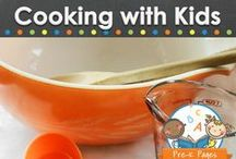 Cooking with Kids / Cooking with kids in your preschool, pre-k, or kindergarten classroom. Easy recipes young children can make with adult supervision and assistance. Visit me at www.pre-kpages.com for more inspiration for early education! / by Vanessa @pre-kpages.com