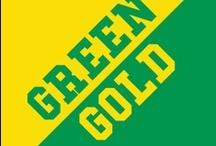 Green & Gold / by IMC Sport Novelties