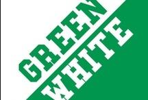 Green & White / by IMC Sport Novelties
