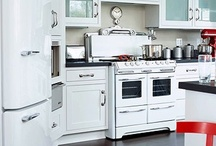 White Appliances / A variety of kitchens that feature white appliances. / by Kitchen Design Ideas