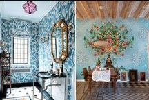 Wall Paper Sticker Designs / by Winnie Haskell