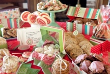 Christmas Cookie Swap / Christmas all year! Lets swap cookies, candy, snacks, and bars! Wrap goodies in cellophane with ribbon, tissue paper in tin cans, cellophane bags with ribbons, tissue paper in boxes with lids. I usually hit the Dollar Tree and stock up on supplies for wrapping...check it out! NOTE: you can make sugar cookies early and store them un-frosted in the freezer after baking in a freezer plastic bag.  / by Lynette E.
