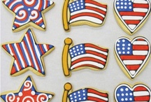 Cookies/Cakes - Red, White & Blue / by Debra Lynn