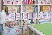 Organization, Craft Room Storage, Ideas, Etc. / by Cindy Simpson