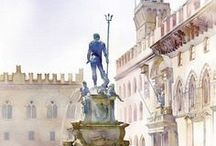 architectural drawings-paintings / by Giò A.