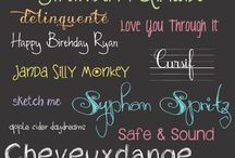 Fonts / by Carye F
