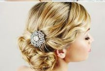 Wedding Hairstyles / Various wedding day hairstyles.  / by Carrie Johnson Bridal and Prom
