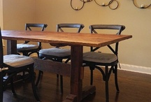 Farm Tables / Nice collection of farm tables, trestle tables, leg tables, and industrial iron tables made with hand forged iron and reclaimed wood. / by Antique Woodworks