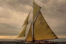 Sailing... / Blue seas....white sails.. / by Jack Levi