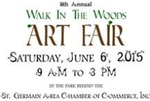 2015 Walk in the Woods Art Fair / Preview of the artists and vendors that will be exhibiting at St. Germain's 8th Annual Walk in the Woods Art Fair on Saturday, June 6, 2015. / by St. Germain Area Chamber of Commerce, Inc.
