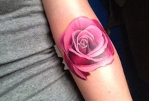 Rose Tattoo Ideas / So far I have two tattoo ideas I'm going for.  One I want a sparrow and a Lilly. Going off of Matthew 6:25-34.  The name rose runs in my family through my family so I want to get 4 roses tattoo somewhere on me that say Florence, Ron, Amelia, and leave the last one blank for my future child or grand child.  I'm undecided if I want each rose to be a different style or color or all the same. So this is my inspiration board / by Amelia Neil