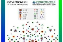 STARIGAMI - A 3D Star Making Template / Starigami is a a template with which 3D stars of multiple points can be made.  The folded stars can be used as real products or for decoration. / by Stand Innovations