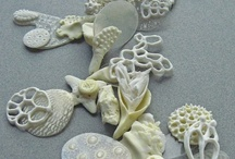 porcelain jewellery / porcelain, earthenware, stoneware, occasionally polymer clay / by Marje Eerme
